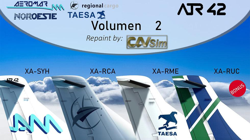 Pack No. 25 Avions de Transport Regional ATR 42-320  Standard Liveries Vol. 2