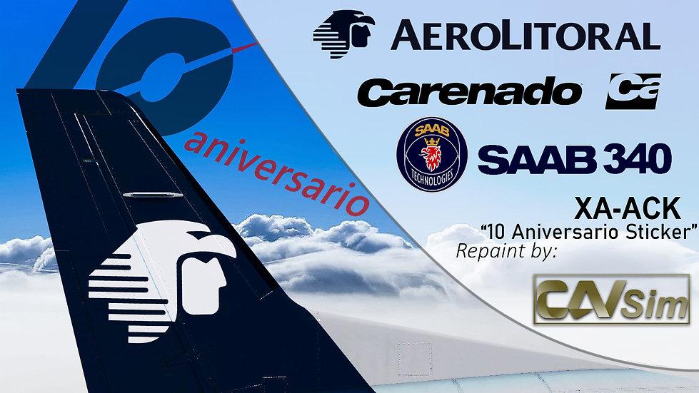 SAAB Aircraft AB SF-340B Aerolitoral SA de CV '10 Anniversary' 'XA-ACK'