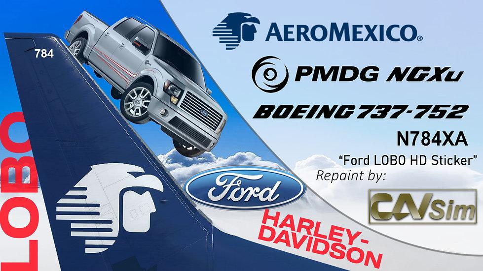 B737-752(BW) AeroMexico Ford Lobo Harley Davison Sticker 'N784XA'