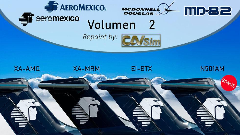 Pack No. 2 MDD MD-8X Aeromexico Liveries Vol. 2