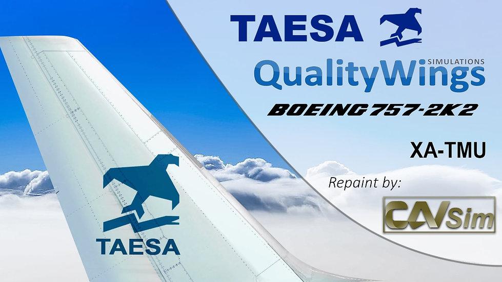 Boeing B757-2K2 Transportes Aéreos Ejecutivos TAESA 'Tail White' 'XA-TMU'