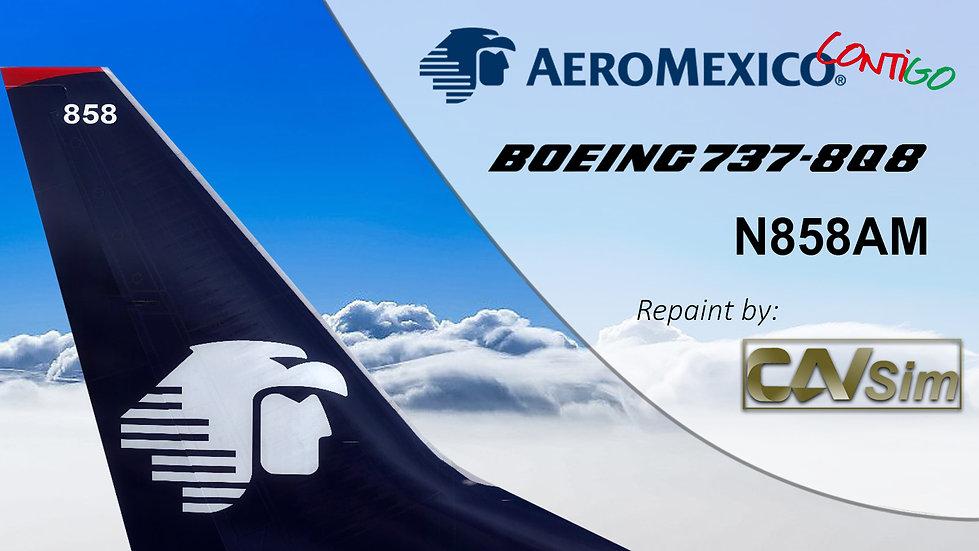 Boeing 737-8Q8(WL) AeroMexico 'Contigo''N858AM'