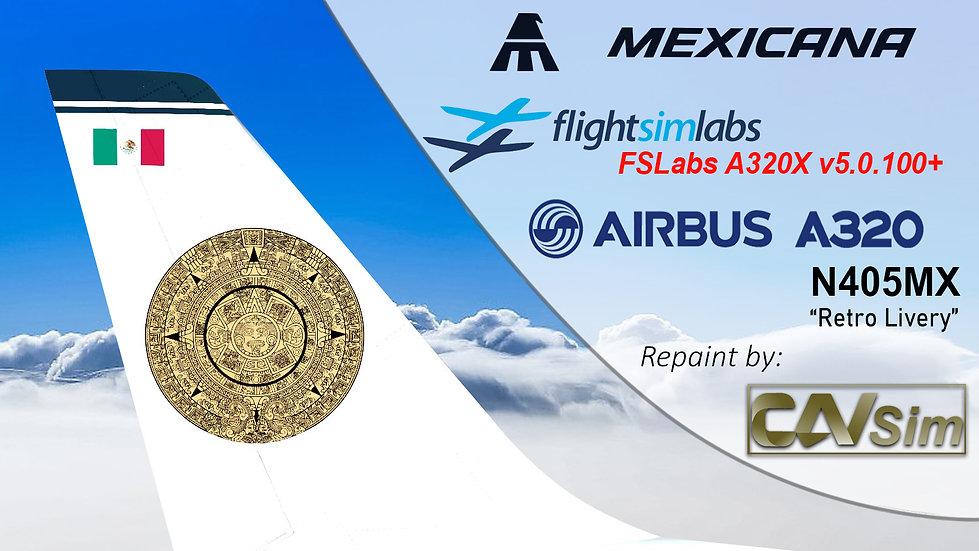 A320-231 (WT) Mexicana 'Retro Livery' 'N405MX' CN: 405