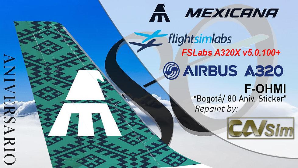 A320-231 (WT) Mexicana '80 Aniversario' 'F-OHMI' CN: 275