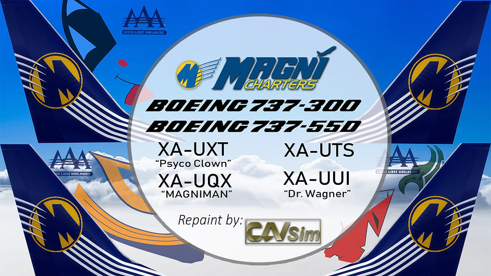 Pack Boeing No. 2 Magnicharters 'Special Triple AAA Liveries'