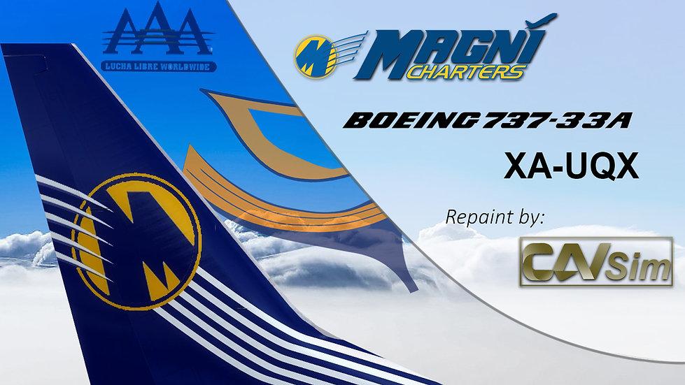 Boeing 737-33A(WL) Magnicharters 'Magni Man Livery' 'XA-UQX'