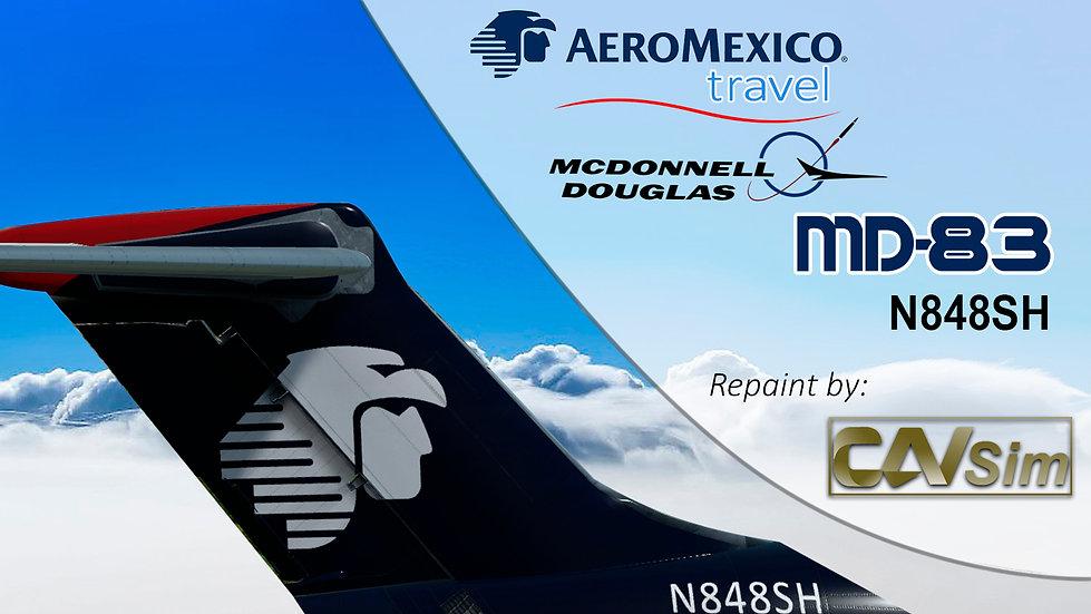 MDD MD-83 Aeromexico Travel 'Last Livery' Flat Tail 'N848SH'