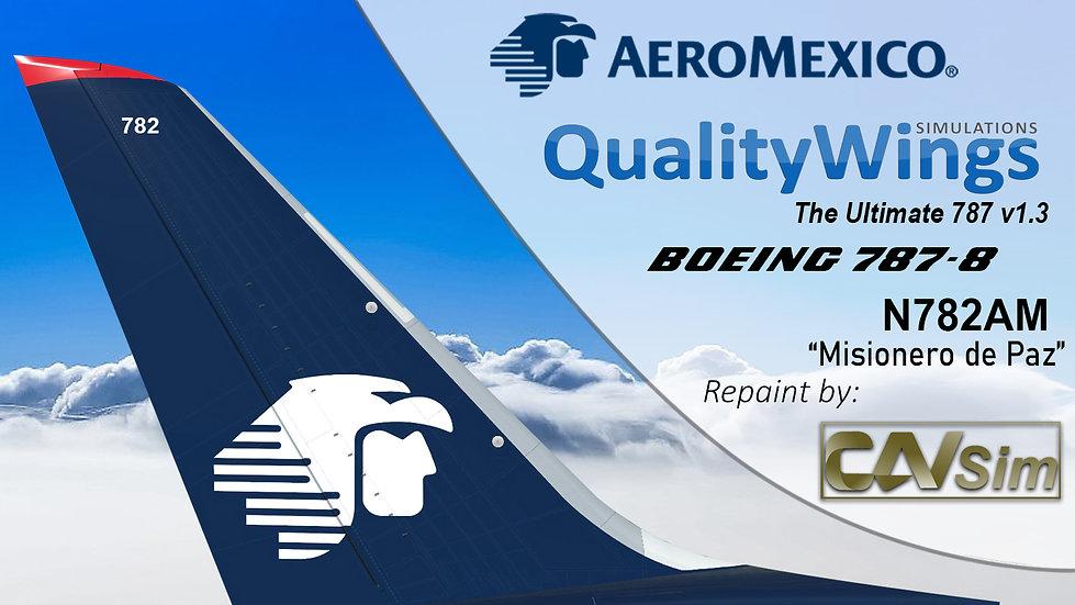 B787-8 AeroMexico 'Misionero de Paz' 'N782AM'