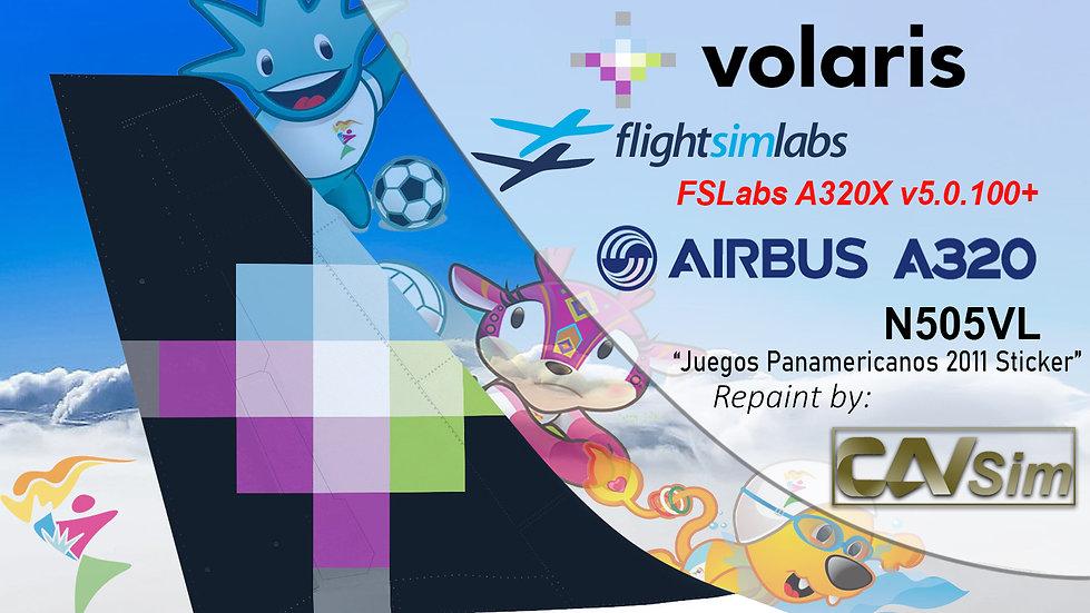 A320-233 (WT) Volaris 'Juegos Panamericanos 2011 Sticker' 'N505VL' CN: 4798