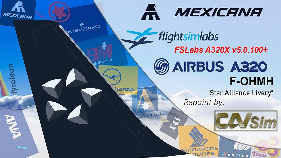 A320-231 (WT) Mexicana 'Star Alliance Livery' 'F-OHMH' CN: 261