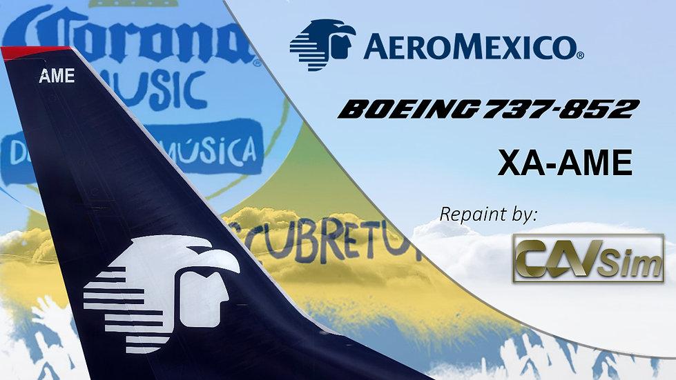 Boeing 737-852(WL) Aeromexico 'Sticker Corona Music' 'XA-AME'