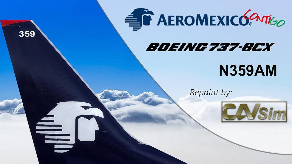 Boeing 737-8CX(WL) AeroMexico 'Contigo' 'N359AM'