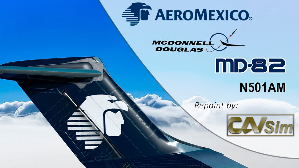 MDD MD-82 Aeromexico 'Livery Mid 90s' Cone Tail  'N501AM'