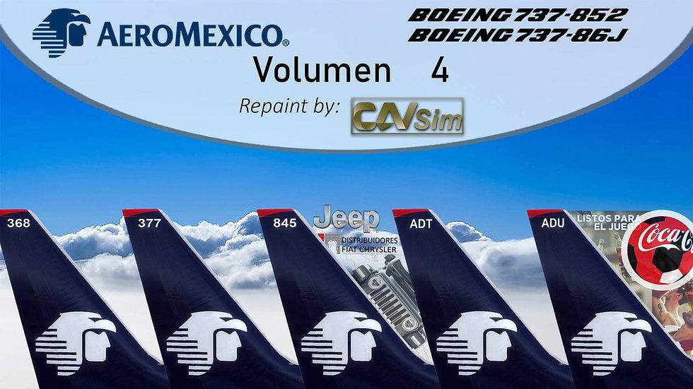 Pack Boeing No. 23 Aeromexico B737-800WL 'Special Liveries' Vol.4