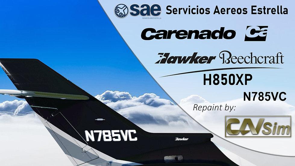Hawker Beechcraft H850XP Servicios Aereos Estrella 'N785VC'