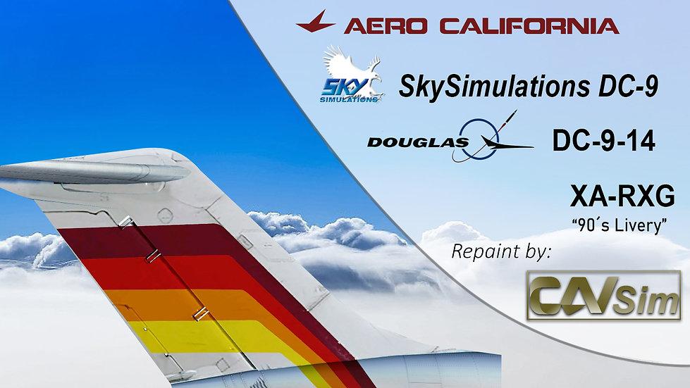 Douglas Aircraft DC-9-14 Aerocalifornia '90's Livery' 'XA-RXG'