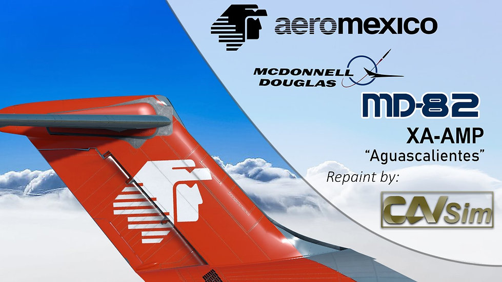 MDD MD-82 Aeromexico '80s Livery' 'Aguascalientes' Cone Tail 'XA-AMP'