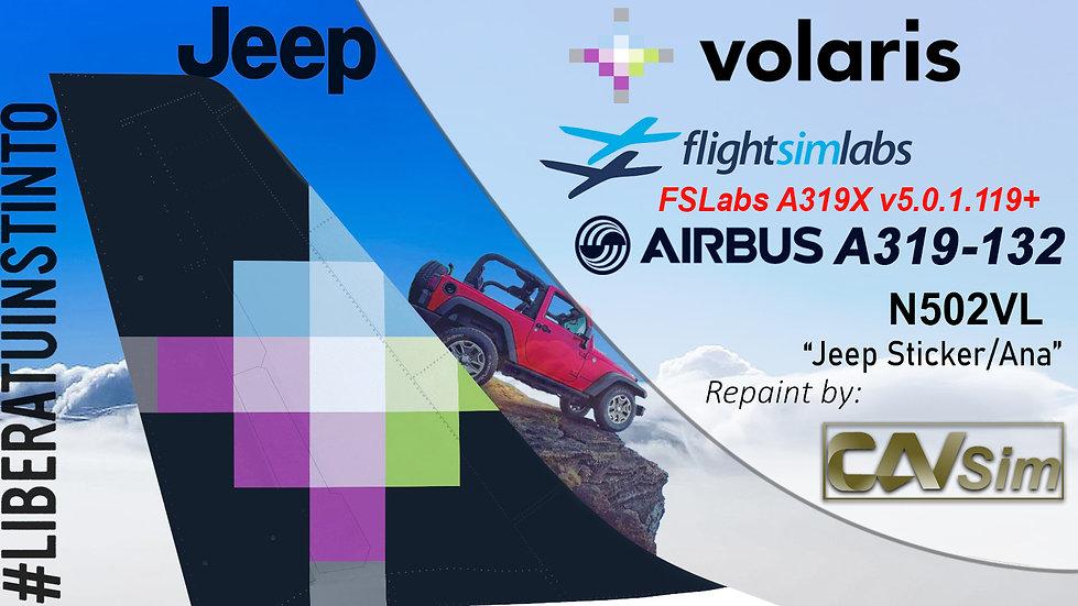 A319-132 (WT) Volaris 'Jeep - Ana''N502VL'