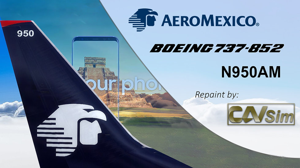 Boeing 737-852(WL) Aeromexico 'Sticker Samsung Galaxy S8' 'N950AM'