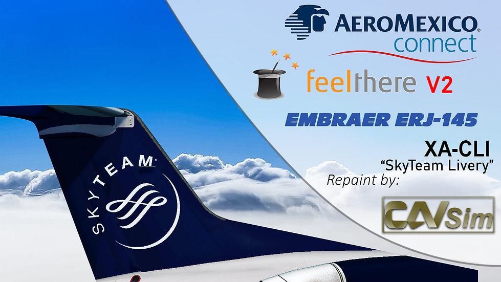 Embraer ERJ-145LR Aeromexico Connect 'SkyTeam Livery' 'XA-CLI'