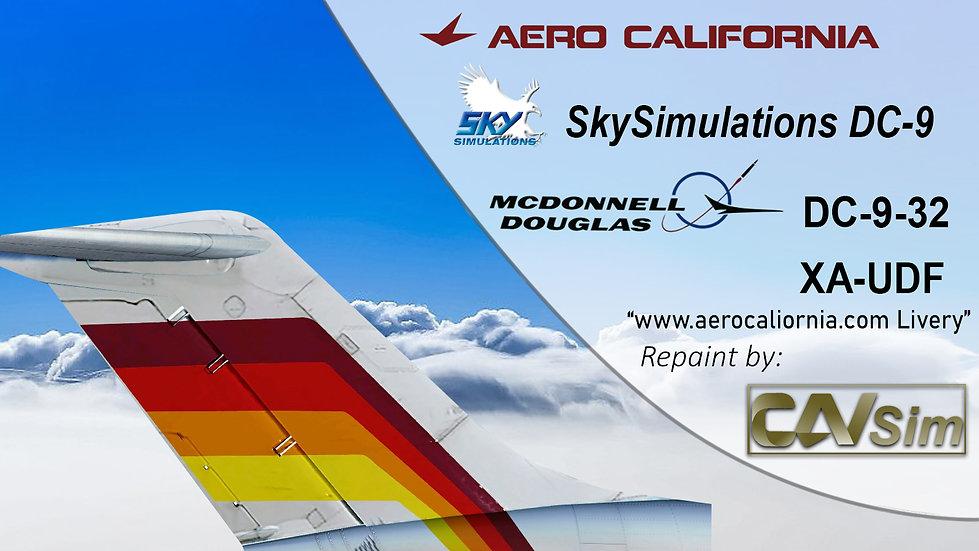 McDonnell Douglas DC-9 32 Aerocalifornia 'aerocalifornia.com.mx' 'XA-UDF'