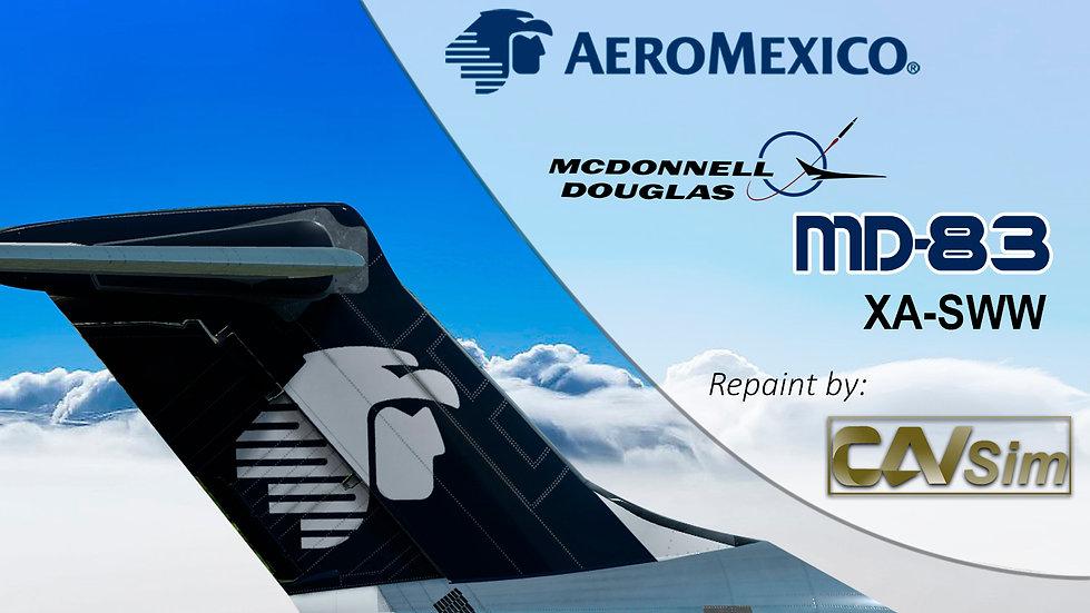 MDD MD-83 Aeromexico 'Last Livery' Flat Tail 'XA-SWW'