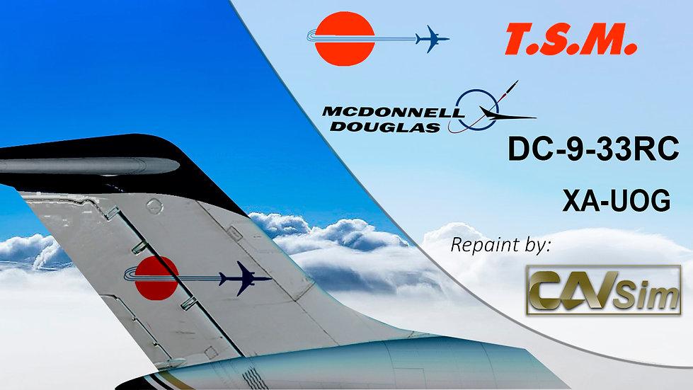 McDonnell Douglas DC9-33RC Aeronaves TSM 'DHL Sticker' 'XA-UOG'