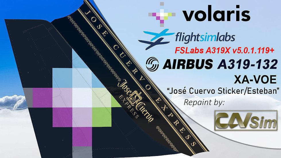 A319-133 (WT) Volaris 'José Cuervo-Esteban' 'XA-VOE'