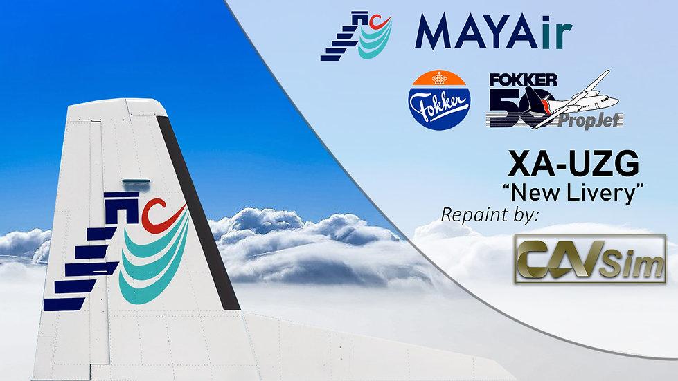 Fokker 50 MAYAir 'New Livery' 'XA-UZG'