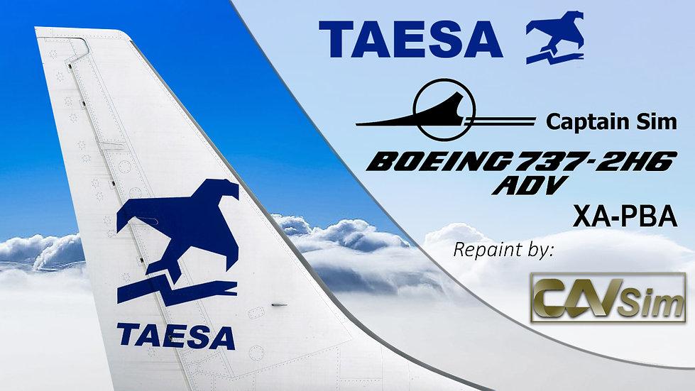 Boeing 737-2H6/ADV Transportes Aéreos Ejecutivos-TAESA 'White Livery' 'XA-PBA'