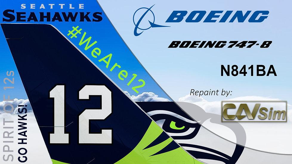 Boeing 747-83QF Boeing 'Seattle Seahawks we are twelve' 'N841BA'