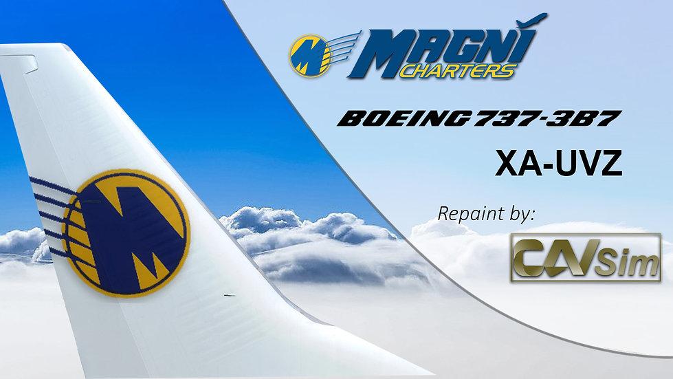 Boeing 737-3B7 Magnicharters 'White Livery' 'XA-UVZ'