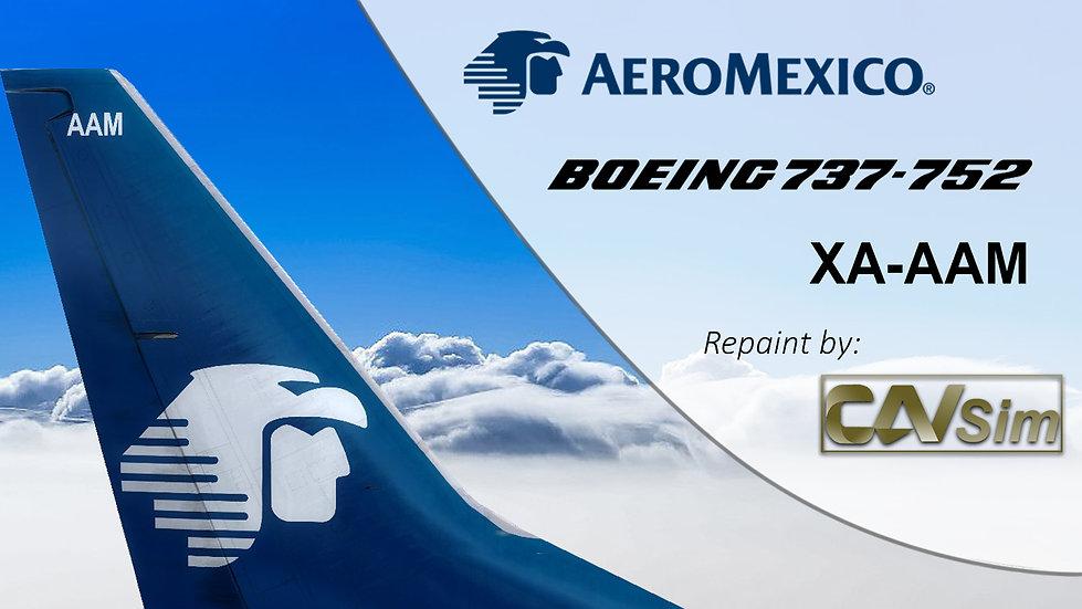 Boeing 737-752(WL) Aeromexico 'Chrome Livery' 'XA-AAM'