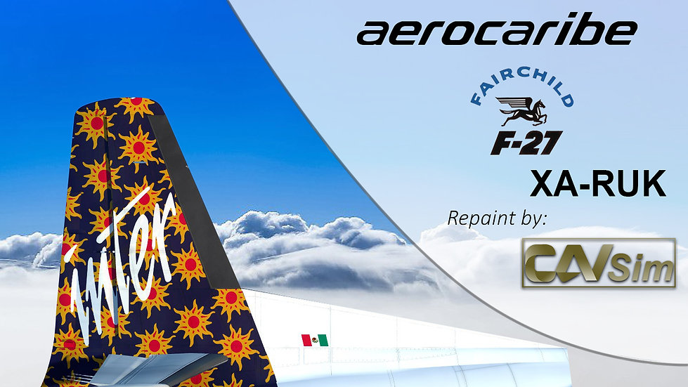 Fairchild Aviation F-27F Friendship Aerocaribe 'Suns Livery''XA-RUK'