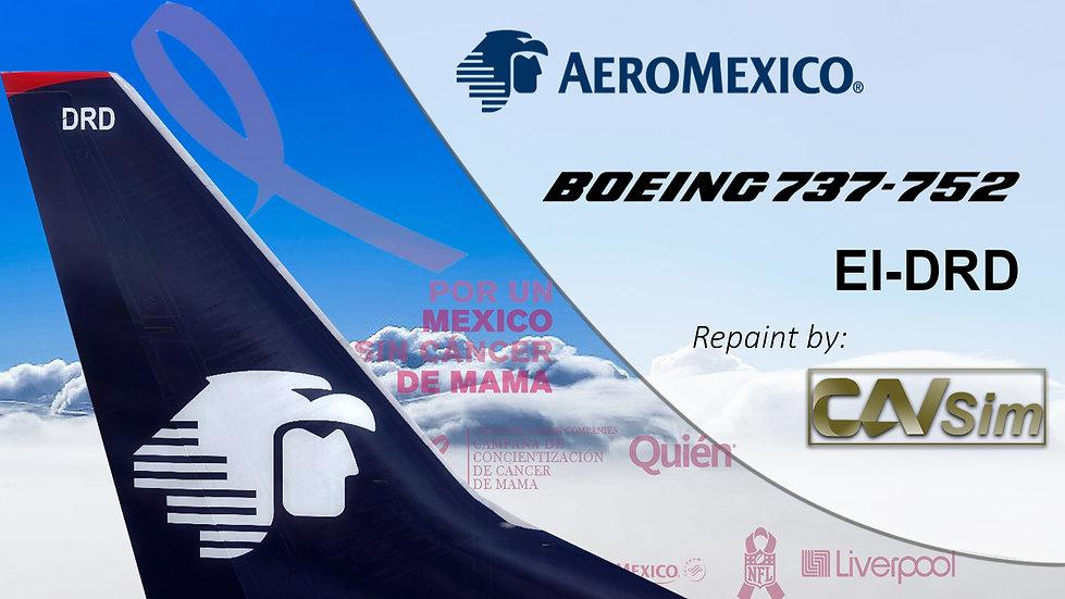 Boeing 737-752(WL) Aeromexico 'Sticker Cancer de Mama ' 'EI-DRD'