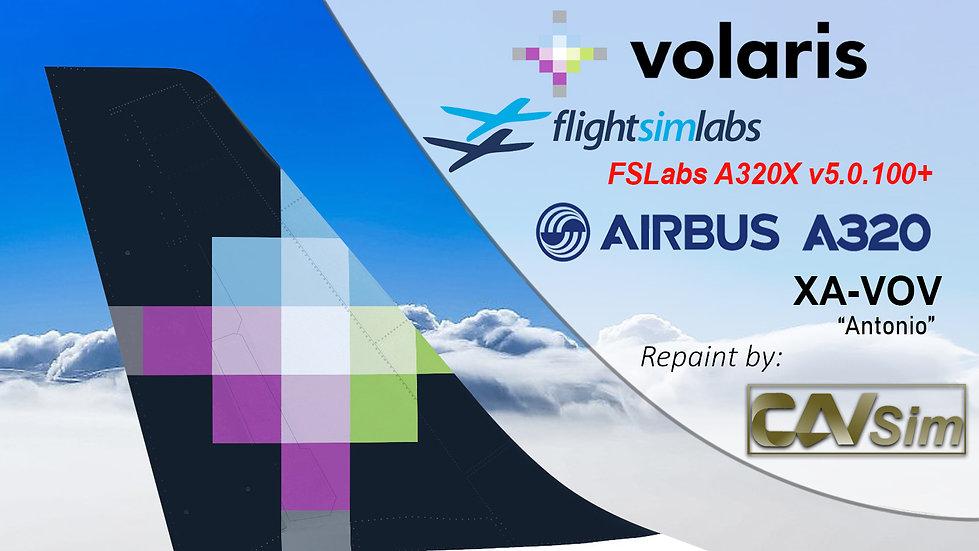 A320-233 (WT) Volaris 'Antonio' 'XA-VOV' CN: 3524