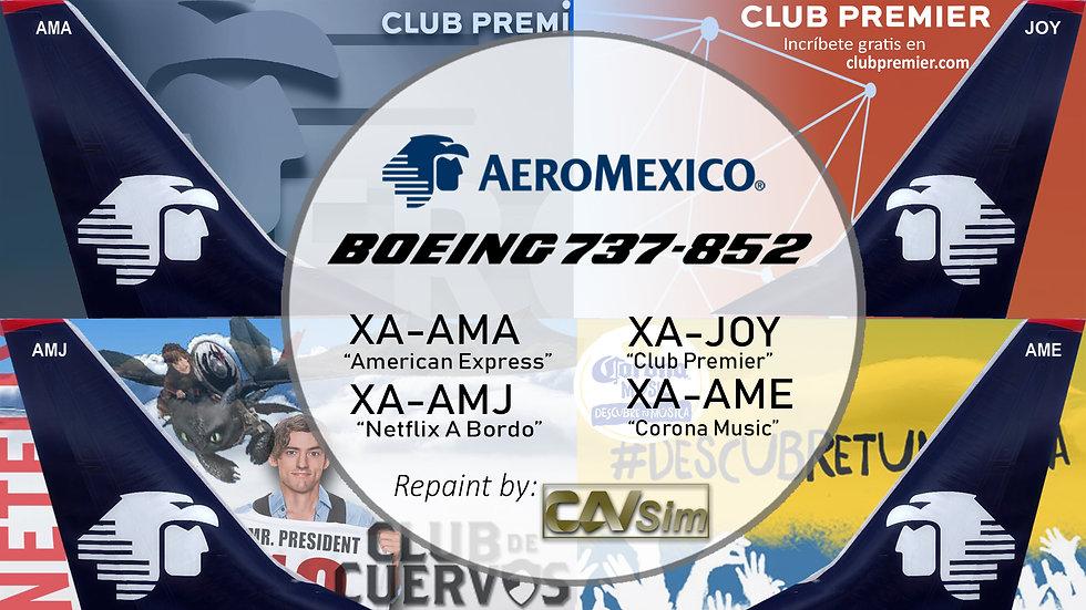 Pack Boeing No. 8 Aeromexico B737-800WL 'Special Liveries' Vol.2