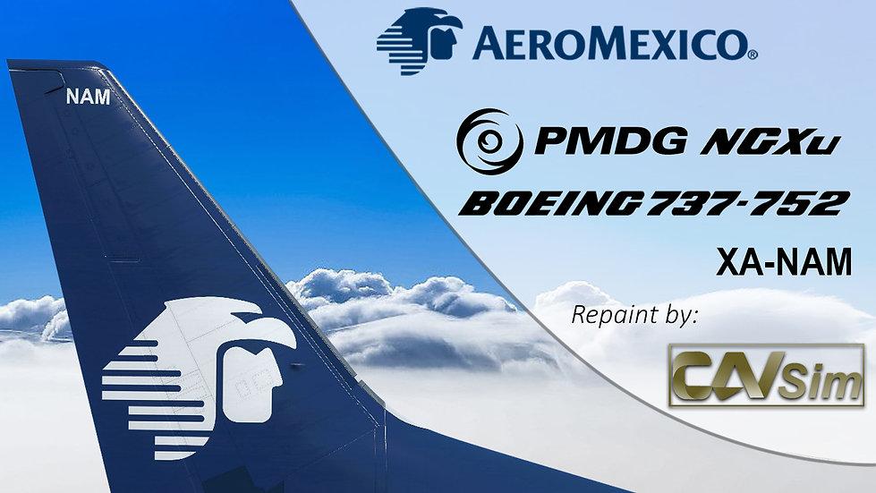 B737-752(BW) AeroMexico 'Chrome Dirty Livery' 'XA-NAM'