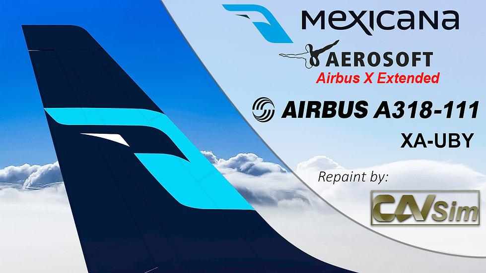 A318-111SL(WT) Mexicana 'Last Livery' 'XA-UBY'