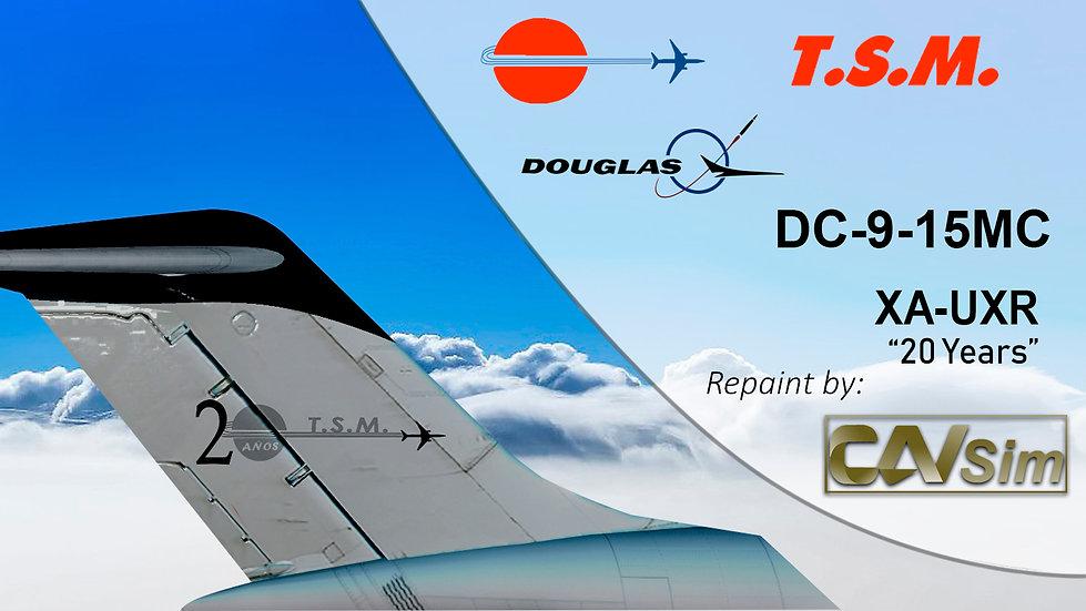 Douglas DC9-15FMC Aeronaves TSM 'Black Livery' '20 Years Sticker' 'XA-UXR'