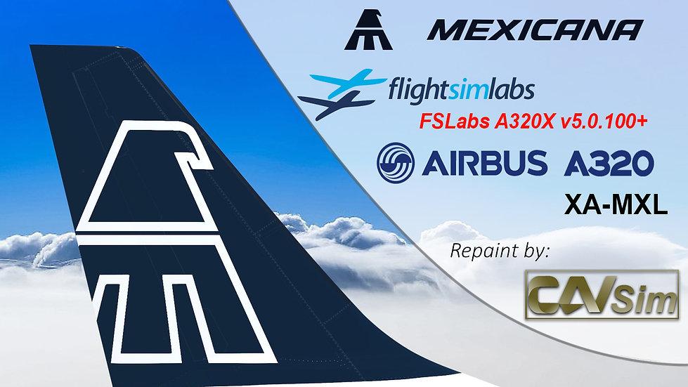 A320-214 (WT) Mexicana 'Blue Livery' 'XA-MXL' CN: 3374