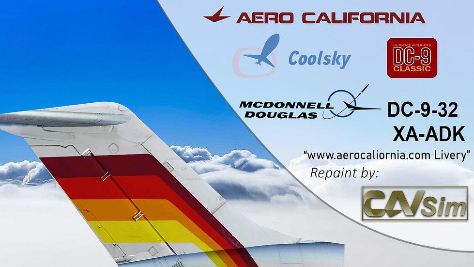McDonnell Douglas DC9-32 Aerocalifornia 'aerocalifornia.com.mx' 'XA-ADK'