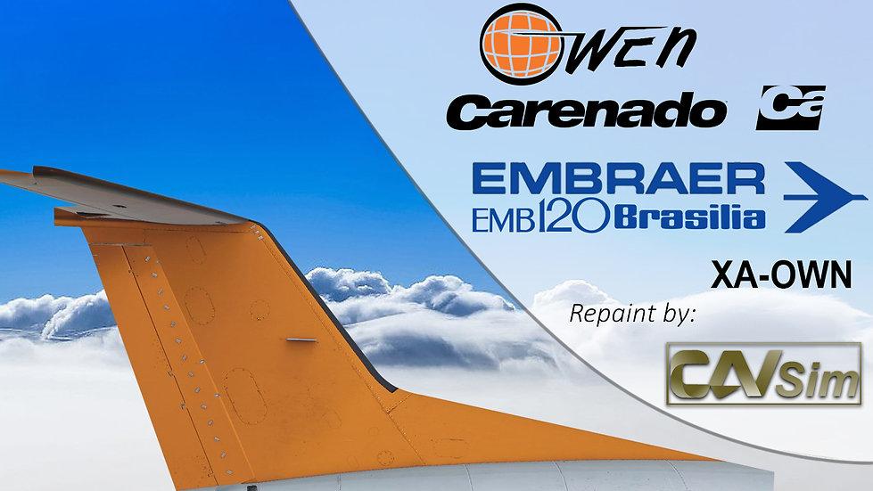 Embraer Aircraft EMB-120RT Aerolineas Owen S.A. New Livery 'XA-OWN'