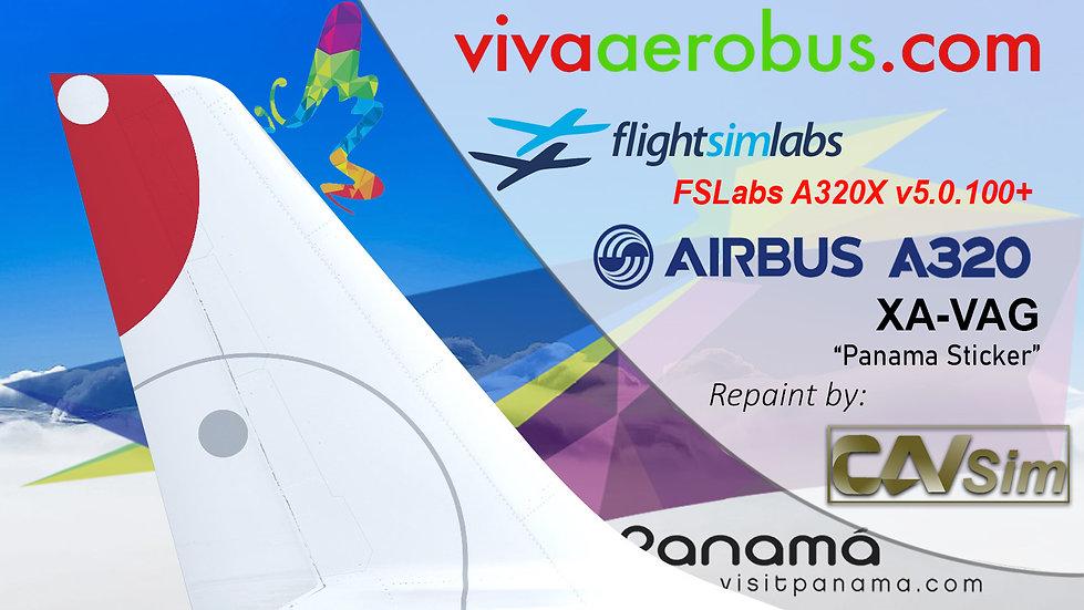 A320-232 (WT) VivaAerobus 'Panama Livery' 'XA-VAG' CN: 2752