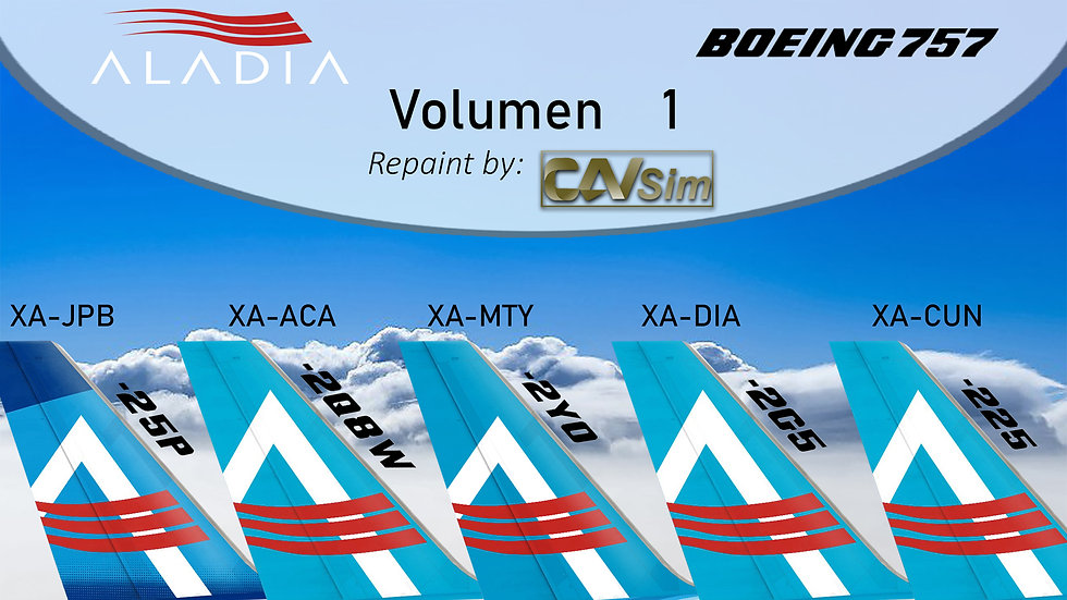 Boeing Aircraft 757-200 Pack No. 34 Aladia Airlines CS