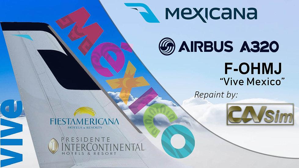 Airbus A320-231 Mexicana 'Vive Mexico Livery' 'F-OHMJ'