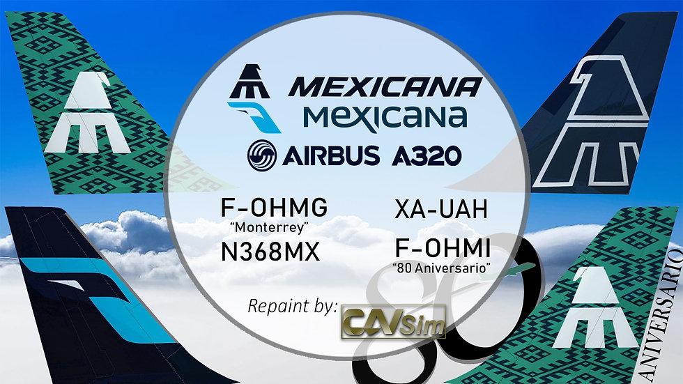 Pack No. 16 A320-231 Mexicana 'IAE Mexicana Standard Liveries'