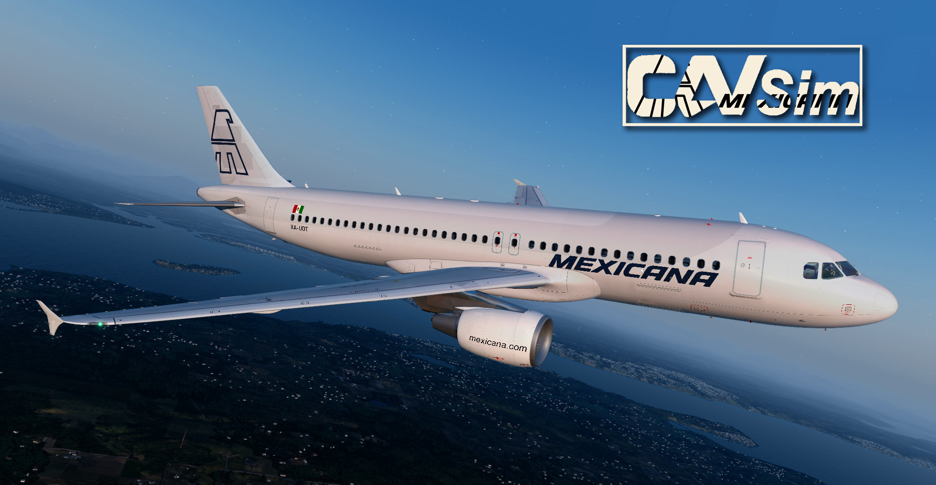 Airbus A320-214 Mexicana 'Tail White Livery' 'XA-UDT'