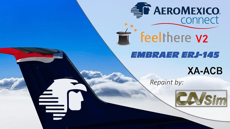 Embraer ERJ-145LR Aeromexico Connect 'aeromexico.com' 'XA-ACB'