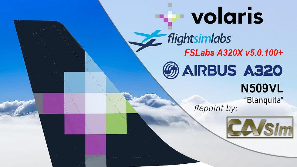 A320-233 (WT) Volaris 'Blanquita' 'N509VL' CN: 5062